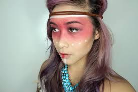 pocahontas inspired halloween makeup look l beautybyshannonle