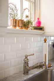 white tile backsplash kitchen sink faucet white tile backsplash kitchen pattern laminate butcher