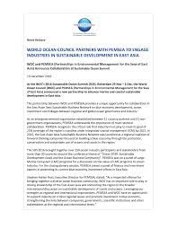 sample leasing agent resume new releases 3 6 world ocean council woc and pemsea announce partnership 15 december