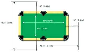 how big is a full size pool table full size pool table dimensions standard pool sizes standard pool