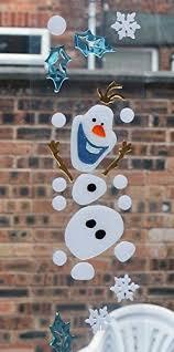 Christmas Window Decorations Amazon by Disney Frozen Christmas Window Decoration Re Useable Gel Window