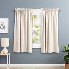 Kitchen Kitchen Curtain Sets Standard by Amazon Com Amazonbasics Room Darkening Thermal Insulating