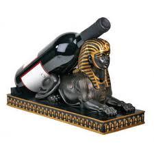 egyptian sphinx wine bottle holder egyptian home decor