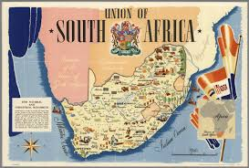 Map Of South Africa by Union Of South Africa Printed In England By Thos Forman U0026 Sons