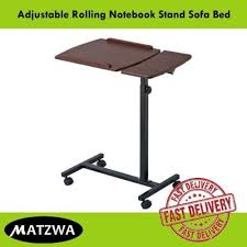 sofa bed desk laptop folding table rolling notebook stand sofa bed adjustable