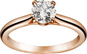 solitaire rings gold images Crn4743600 1895 solitaire ring pink gold diamond cartier png