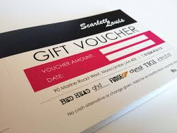 hair salon gift voucher booklet perforated and binded coupons