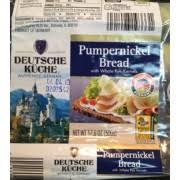 deutsche küche deutsche kuche pumpernickel bread calories nutrition analysis