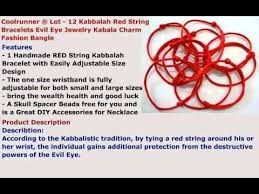 red string bracelet with charm images Coolrunner lot 12 kabbalah red string bracelets evil eye jpg