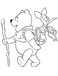 pooh piglet coloring pages kids coloring