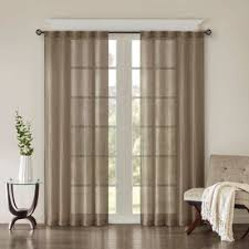 108 Inch Panel Curtains Buy 108 Inch Window Curtain Panel In Taupe From Bed Bath U0026 Beyond