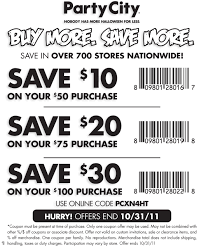 Halloween Spirit Coupons Printable by Free Printable Party City Coupon October 2017