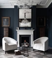 navy blue rooms living room transitional with interior