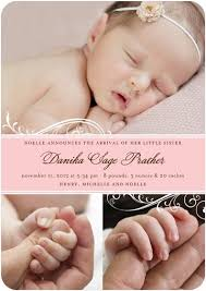 birth announcement wording lovely baby birth announcement card with baby photo and