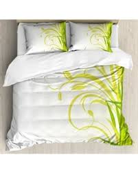 Zen Bedding Sets Big Deal On Green Size Duvet Cover Set Bamboo With Artistic