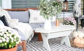 Decorating Help Neutral Fall Porch Decorating Ideas And Tour Maison De Pax