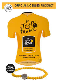 yellow bracelet images Le tour de france yellow jersey bracelet the bead coalition jpg