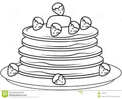 pancake coloring pages glum me