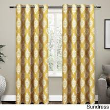 Yellow White Curtains 96 Inch Sundress Yellow White Medallion Curtains Panel Pair Set