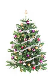 decorated tree with garland stock photo image 46752511