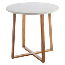 Large Side Table Drew Bamboo And White Lacquer Large Side Table Soft Furnishings