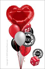 baltimore balloon delivery casino centerpiece heart dice chip balloon delivery by