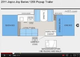Jayco Camper Trailer Floor Plans Jayco Pop Up Campers Trailer