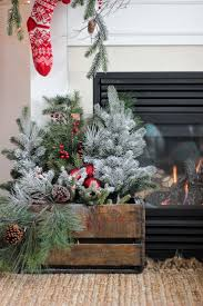Fireplace Holiday Decorating Ideas Home Design Home Design Fireplace Christmas Decorations Unique