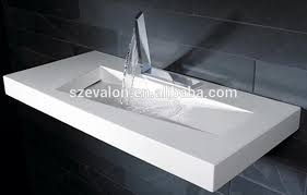 solid surface stone resin wall hung bathroom sink solid surface