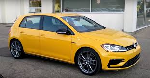 volkswagen harlequin ginster yellow 2018 vw golf r is a thing of retro beauty