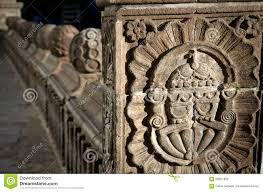 detail of baroque architecture in cathedral church stock photo