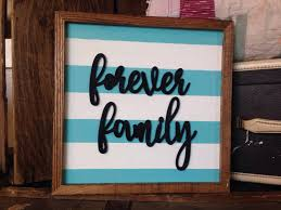 Lds Home Decor by Wood Forever Family Sign Rustic Sign Wood Sign Framed Sign