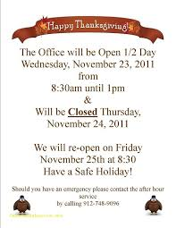 best thanksgiving business hours template free template 2018free