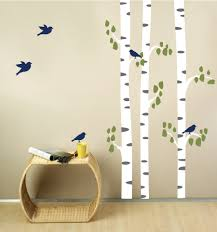 compare prices on birch tree wall decal forest online shopping large birch trees with birds wall decal tree forest home decal poster bedroom vinyl wall art