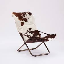 Leather Chaise Lounge Leather Hairy Chaise Longue Cow Hide Brown White Seating Pao U0026efe