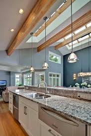 Kitchen Hanging Pendant Lights Pendant Lighting For Vaulted Ceilings Open Concept Great Room With