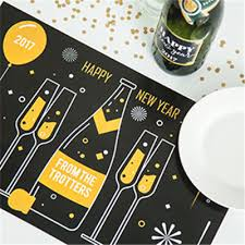 new year placemats print custom new years party invitations icustomlabel