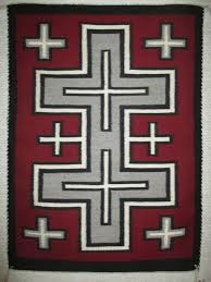 American Flag Rugs Navajo Rug With Crosses Pattern Small Size Two Grey Hills