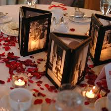 photo centerpieces how to decorate with photos for a milestone birthday party