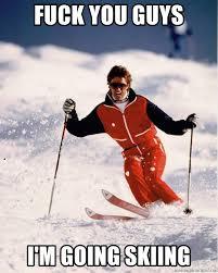 Skiing Meme - 80s skiing meme generator