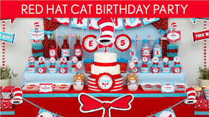 dr seuss party decorations dr seuss cat in the hat birthday party ideas hat cat b20