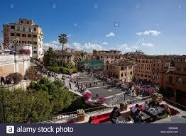 spanische treppe in rom spanische treppe rom italien steps rome italy stock