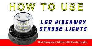 led hideaway strobe lights mini emergency vehicle led warning