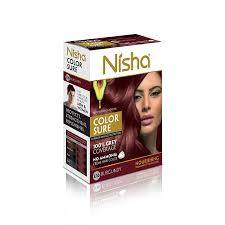 best hair dye without ammonia buy nisha color sure hair color 40g burgundy online at low