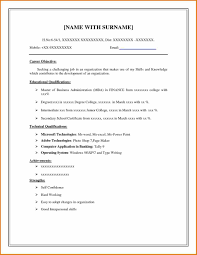 Simple Job Resumes by Simple Resume Sample Doc Free Resume Example And Writing Download