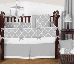Linen Covers Gray Print Pillows White Walls Grey Gray And White Trellis Baby Bedding 9pc Crib Set By Sweet Jojo