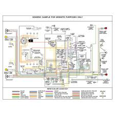 ford wiring diagram fully laminated poster kwikwire com