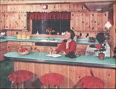 Green Home Kitchen Design Vintage Knotty Pine Kitchen Cabinets Vintage Kitchen Pinterest