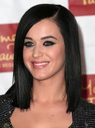 shoulder length layered longer in front hairstyle shoulder length blunt bob with long side bangs from the front side
