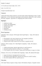 Housekeeping Resume Examples by Download Android Developer Resume Haadyaooverbayresort Com